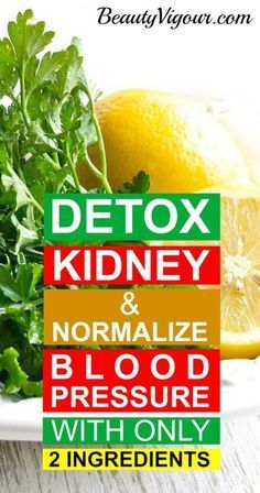 how to clean kidneys with parsley