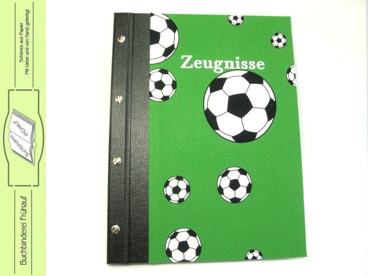 Weiteres - Zeugnismappe Sammelmappe für Zeugnisse Fußball - ein Designerstück von BuchbindereiFruehauf bei DaWanda