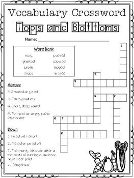 Influential image for 3rd grade crossword puzzles printable