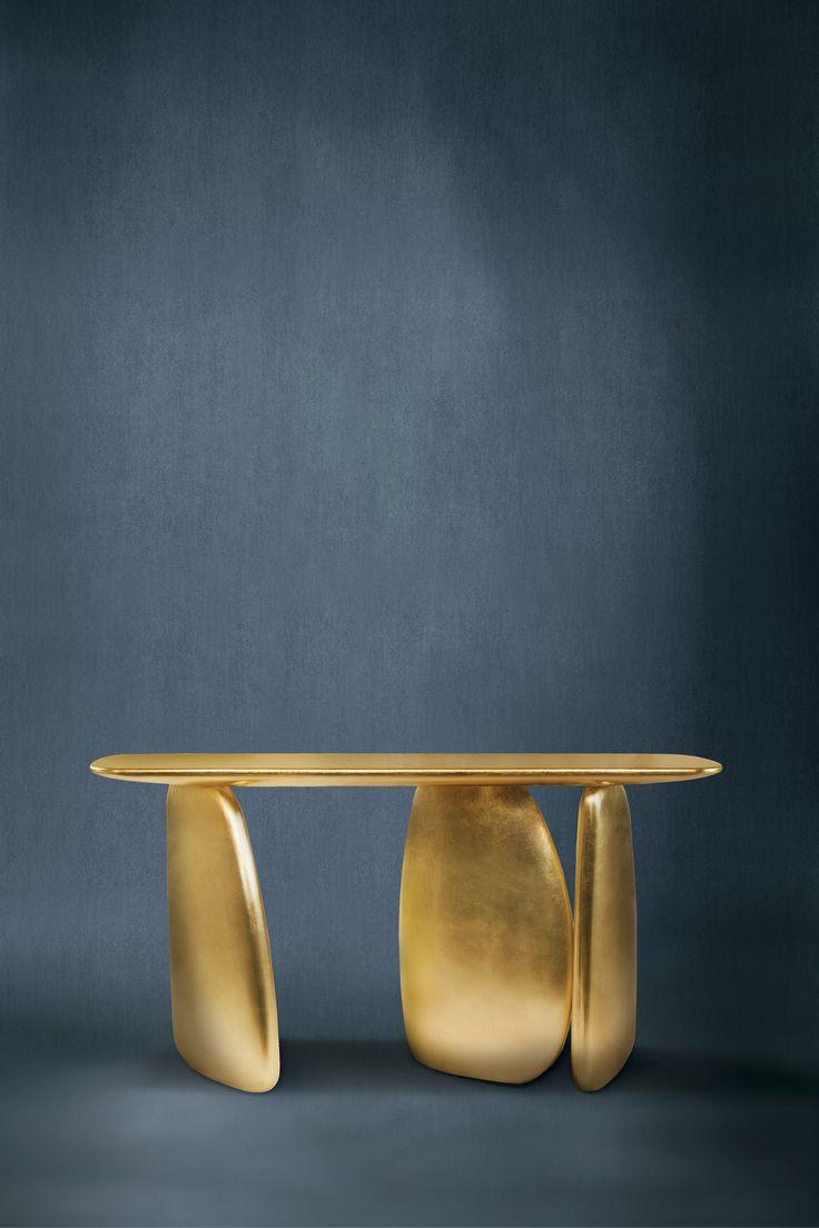 ARDARA Console by @BRABBU | Modern Interior Design. Entrance Hall. Furniture Design. #designfurniture #consoletable #brass Discover more: https://www.brabbu.com/en/casegoods/ardara-console/