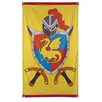 Ridders en Draken Vlag - Hieppp. Knights and Dragons party supplies.