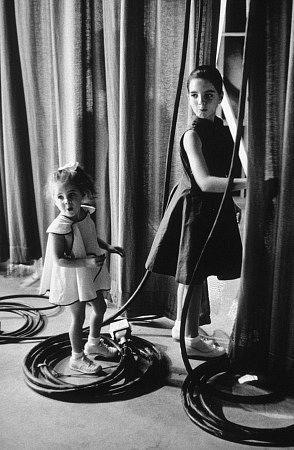 Liza Minnelli & Lorna Luft in Los Angeles Ca., at CBS 1955.