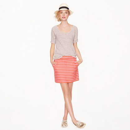 Postcard mini in textured stripe jcrew