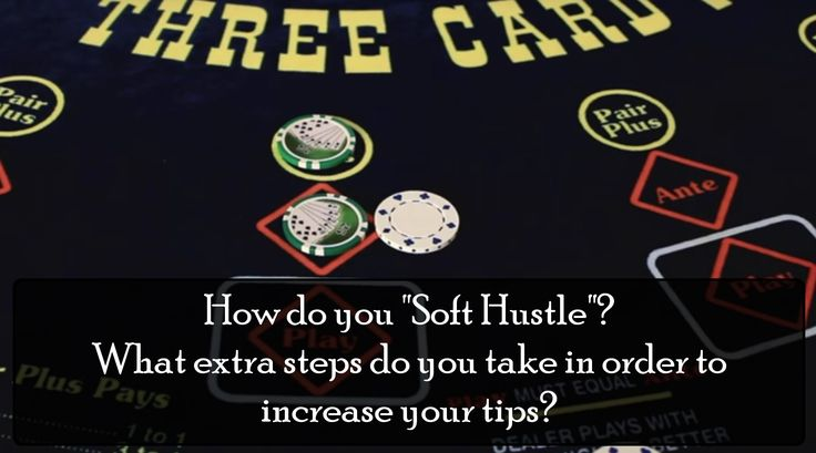 "Have you ever heard of the term ""Soft Hustling""?  This is when dealers complete certain actions with the hopes of increasing their #tips. For example: If the dealer sees their player pull out a pack of cigarettes then they would hand them an ash tray without waiting for the player to asked for it. Or on Craps, the stick person will sell props that leads to additional tokes.  #gambling"