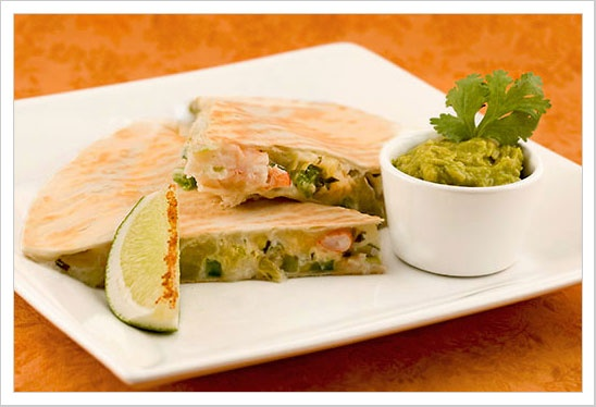 Spicy Shrimp and Lime Quesadillas from MyGourmetConnection