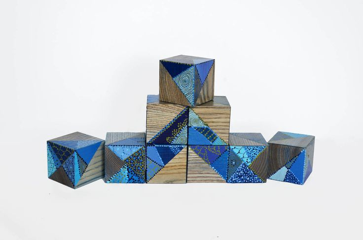 Wooden blocks | Unique home decor  | Piece of art | Free shipping by Lapalai on Etsy