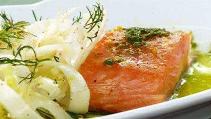 Saumon confit et salade de fenouil - Recettes - À la di Stasio