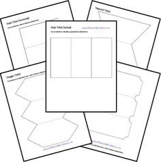 Free printable and foldable lapbook. Let the creativity flow by making your own books. All sort of formats to choose from; petal, accordion, pockets, etc.