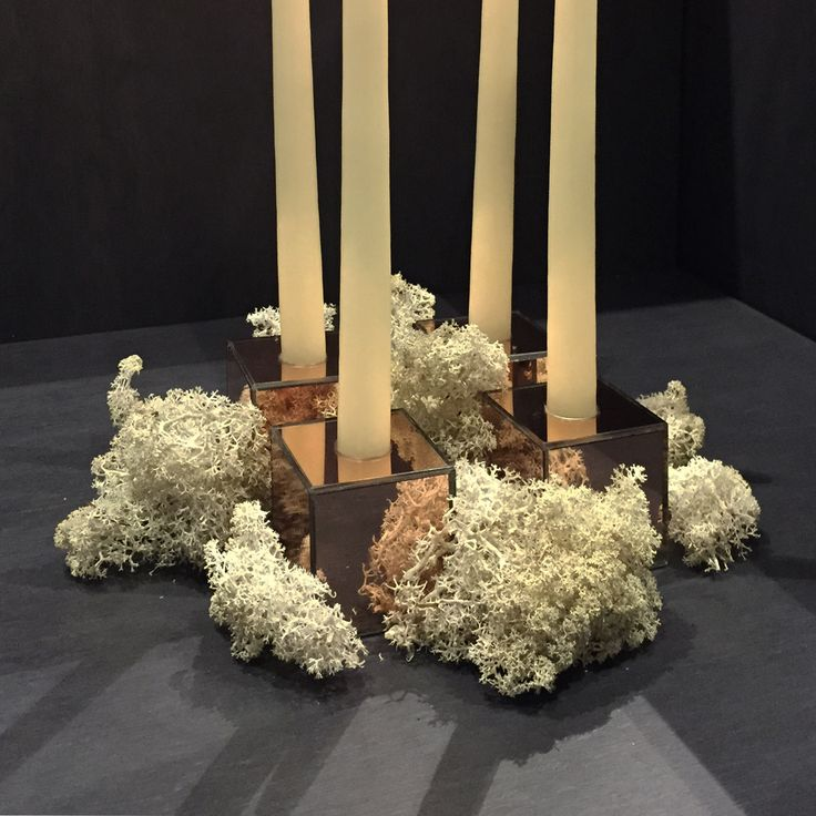 AYTM Speculum candleholders used as an advent decoration