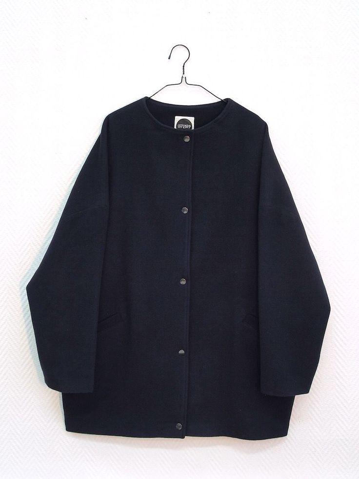 Mori Dark Blue Cashmere Jacket via MORI COLLECTIVE.