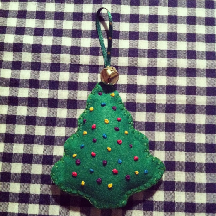 Home made Tree decoration for your Christmas Tree. Visit http://www.facebook.com/KittyAndTiz to find out how to buy