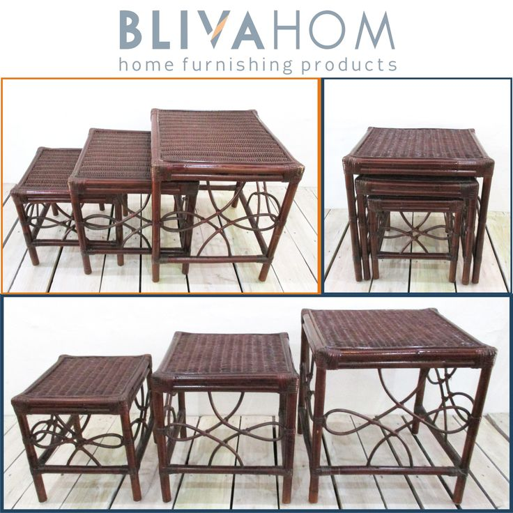 BERMUDA 3set  MATERIAL: Rattan SIZE: - 43 x 46 x 49cm (L) - 39 x 39 x 42cm (M) - 35 x 32 x 35cm (S) IDR: Rp. 486.000,- Let's Decorate Your Home! Happy Shopping