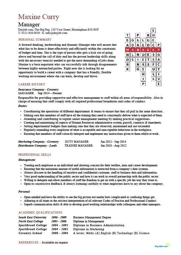 Sales Manager Cv Example Free Cv Template Sales Management Teacher Resume Template Teacher Resume Examples Teacher Cv Template