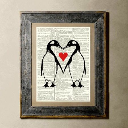 Penguin Love .Blog Search, Wall Art, Penguins Heart, Penguins Love, Vintage Penguins, Penguins Stamps, Baby Animal, Wall Ideas, Penguins Art