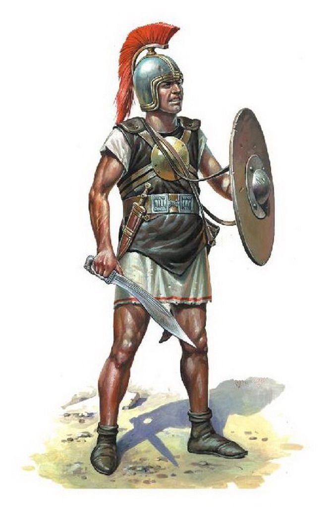 Guerrero íbero portando caetra, falcata y protegido por una placa pectoral. http://www.elgrancapitan.org/foro/viewtopic.php?f=87&t=16979&start=7050#p914236