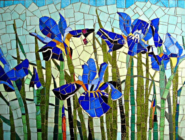 Iris Mosaic By Olive Stack Mosaic Pinterest Mosaics Tables And Mosaic Table Tops