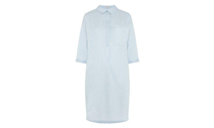 Oversized Chambray Shirt Dress