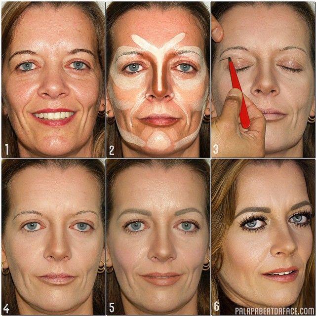 Cool makover for a mature face #makeup #tutorial #evatornadoblog #stepbystep #mycollection