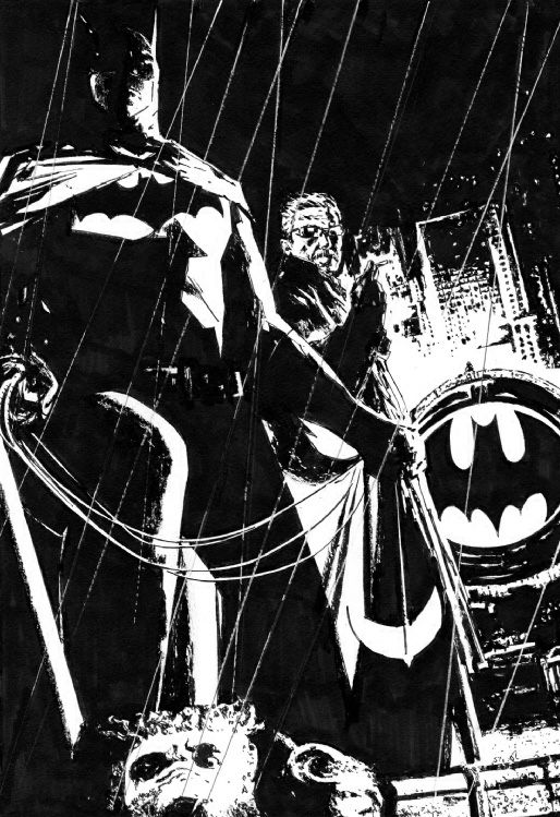 Batman and Commissioner Gordon by Laurence Campbell *