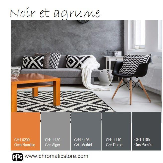 Le #noir comme l' #orange sont des teintes très typées : à privilégier en petites touches ou en accessoires #déco plutôt qu'en total look. www.chromaticstore.com