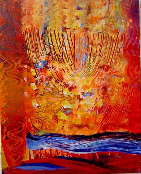 Chanukah Art by Yoram Raanan