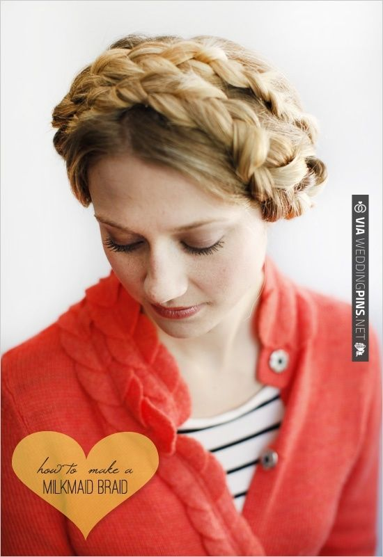 Best Milkmaid Braid Hairstyles Images On Pinterest Hairstyles - Diy hairstyle knotted milkmaid braid