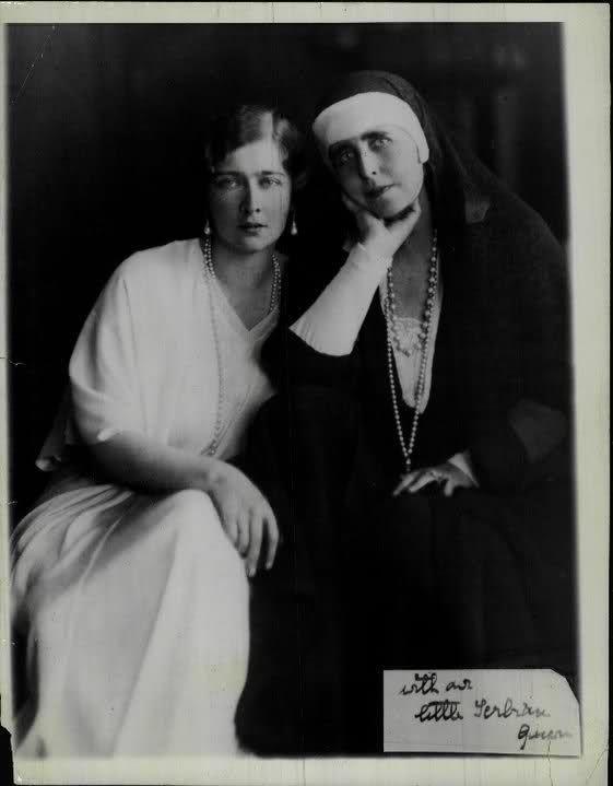 Queen Marie of Romania and Queen Marie of Serbia (Princess Mignon of Romania)