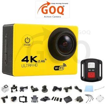 อย่าช้า  GOQ F60R 4K 30fps 16M Action Sports Camera Cam Remote ShutterControl - intl  ราคาเพียง  1,144 บาท  เท่านั้น คุณสมบัติ มีดังนี้ 4K 30fps, 2.7K 30fps, 1080P60fps, 1080P 30fps, 720P 120fps, 720P 60fps, 720P 30fps High Resolution SONY 179CMOS Sensor Video Time-LapsedSupported Slow Motion VideoSupported Ultra Wide Angle 170° Lens(F2.8 / f=2.99mm) 2 inches LCD Screen(960*240) 30 meter Depth IP68Waterproof Case to capture video under water 6G HD 170° degree wideangle lens Built-in WiFi for…