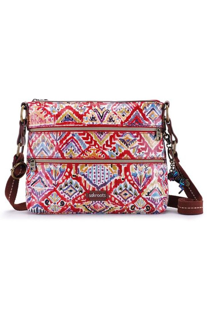Nella Canteen Small Crossbody, Turquoise Brave Beauti Sakroots
