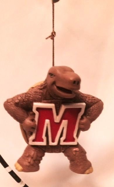 Terrapins Christmas Ornament Testudo University of MD Official Collegiate NIB #MarylandTerrapins