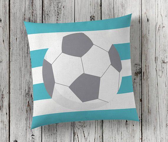 Soccer gift, soccer ball, throw pillow cover, kids room decor, double sided custom pillow cover, gift for her, teen girl room decor