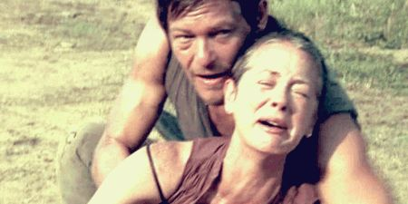 Pin for Later: 22 Times You Wanted Daryl and Carol to Be a Thing So Badly When Carol's Devastated by Sophia and Daryl's There For Her