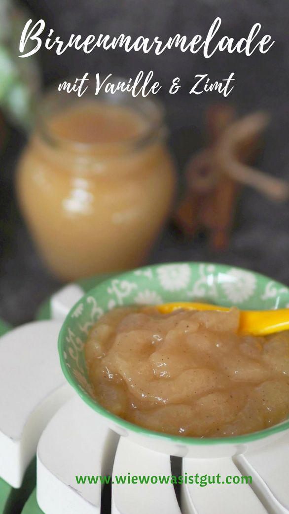 Marmelade ist bei mir am Wochenende beim Frühstück elementar wichtig. Und nichts geht über selbst gemachte Marmelade. Bei mir wird Obst nicht weggeschmissen, sondern fast immer zu Marmelade verarbeitet. Diesmal überreife Birnen mit Vanille und Zimt. Lecker. Im Thermomix natürlich ein Kinderspiel.  #marmelade #zimt #vanille