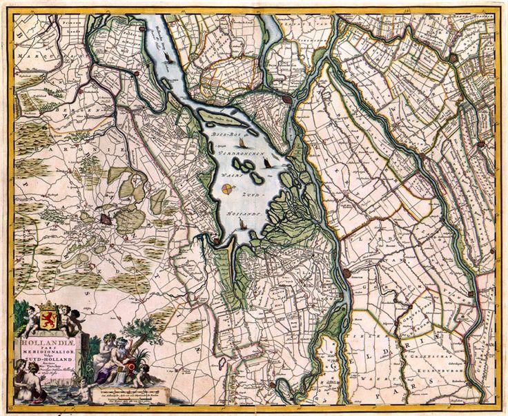 De Biesbosch in 1656 in Zuid-Holland, Visscher
