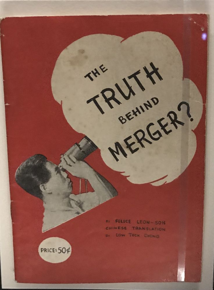 The purpose of this book design is to attract the attention of the audience, and possibly to inform them of the background behind the merger. They make use of white space and contrast to make the headline stand out from the cover.
