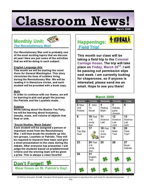 Classroom Newsletter Ideas ~ Best education classroom newsletter images on