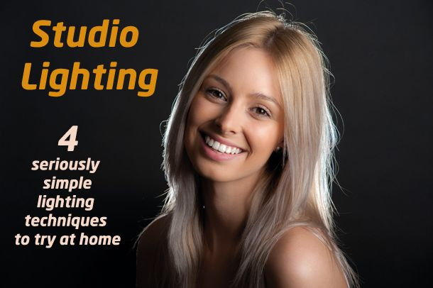 4 classic but seriously simple studio lighting techniques to try at home for professional-looking portraits