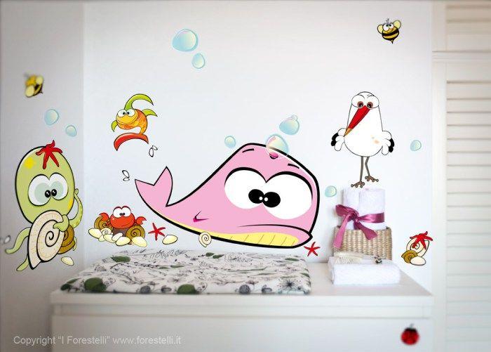 adesivi murali per bambini dei Forestelli
