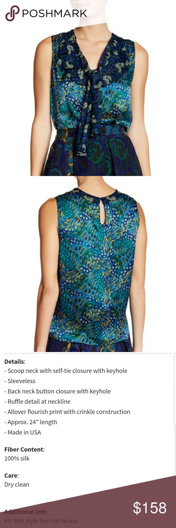 NWT *Final Price* Anna Sui peacock top Brand new with tags Anna Sui peacock top Anna Sui Tops