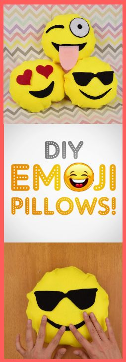 DIY Emoji Pillows! They're adorable and fun and oh so soft! Learn how to make them on your own here: https://www.facebook.com/BabyFirstTV/videos/10154272316954586/ #DIY #Parenting #ArtsAndCrafts