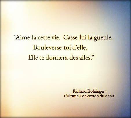 "Richard Bohringer ""L'ultime conviction du désir"""