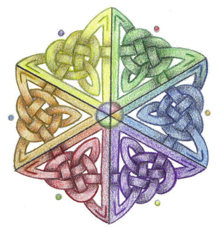 Celtic. Great design for a crochet hexagon.