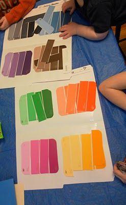 Association de couleurs, à partir de cartes d'échantillons de peinture