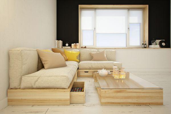 Modular furniture by Curly studio, via Behance