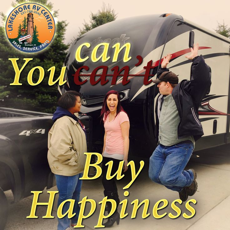 Want to feel this good? Give us a call 877-743-8010, stop in, or visit https://lakeshore-rv.com and find out how.