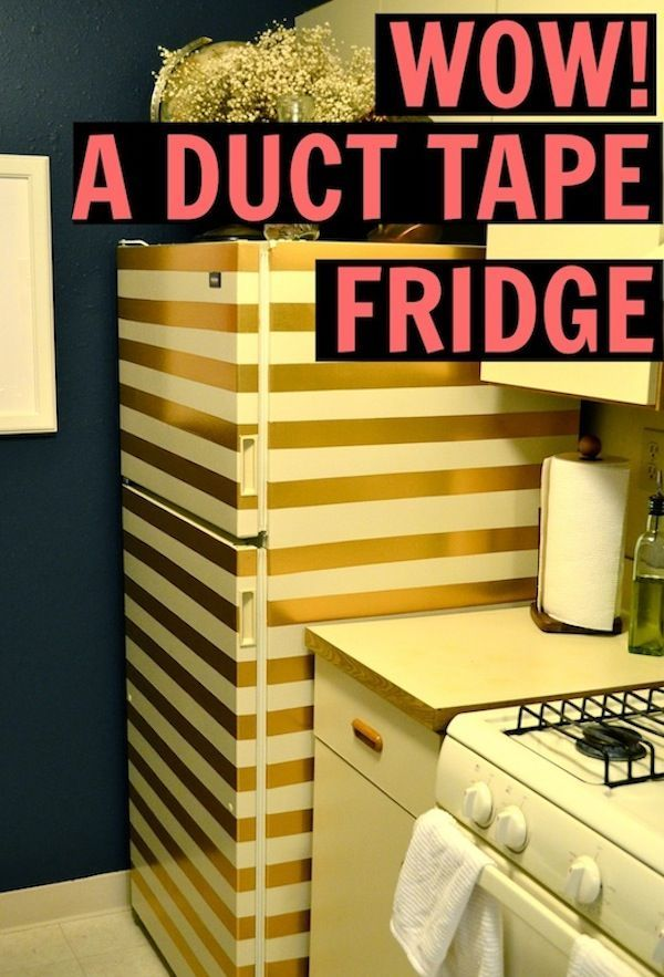 A Gold Striped Fridge Washi Tape Washi And Kitchens