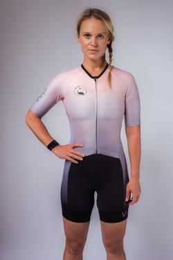 90d5ec9585e women's aero sleeved triathlon suit peach | Women's Triathlon ...