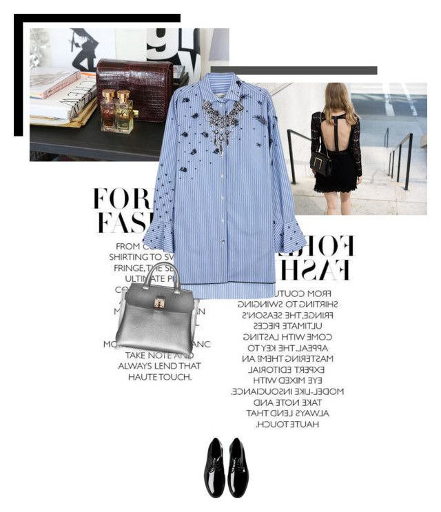 """Shirt Dress"" by veronicamastalli on Polyvore featuring Valentino, A.P.C., MCM and Erickson Beamon"