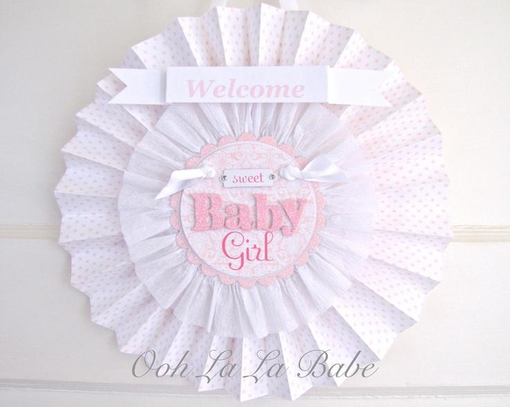 Hospital door sign birth announcement welcome sign baby for Baby shower door decoration