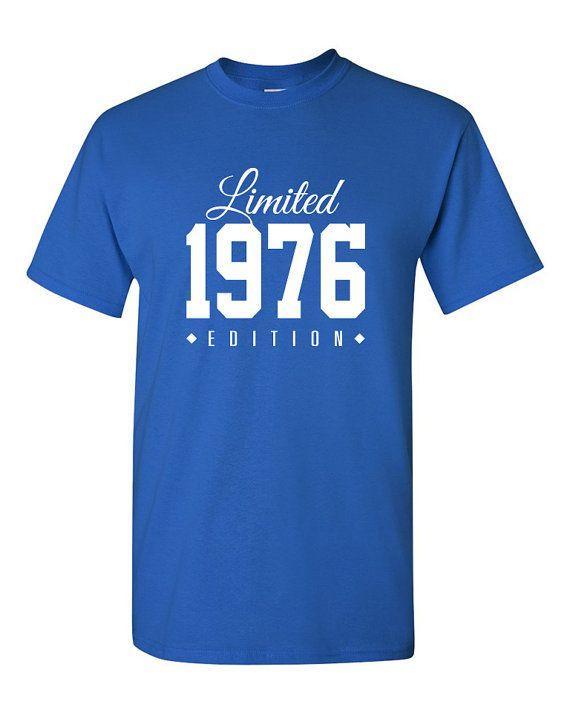 Édition limitée 1976 40e anniversaire Party chemise, chemise de 40 ans, édition limitée, âgée de 40 an 40e anniversaire fête tee shirt TH-130